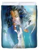 Michael Jackson 04 Duvet Cover by Miki De Goodaboom