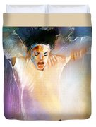 Michael Jackson 09 Duvet Cover by Miki De Goodaboom