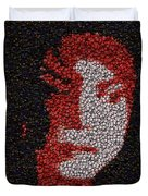 Michael Jackson Bottle Cap Mosaic Duvet Cover by Paul Van Scott