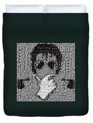 Michael Jackson Glove Montage Duvet Cover by Paul Van Scott