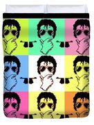 Michael Jackson Pop Duvet Cover by Paul Van Scott