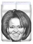 Michelle Obama Duvet Cover by Murphy Elliott