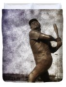 Mike Schmidt - Philadelphia Phillie Duvet Cover by Bill Cannon