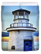 Miniature Lighthouse Duvet Cover by Evelina Kremsdorf