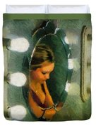 Mirror Mirror On The Wall Duvet Cover by Jeff Kolker