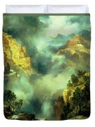 Mist In The Canyon Duvet Cover by Thomas Moran