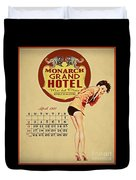 Monarch Grand Hotel Duvet Cover by Cinema Photography