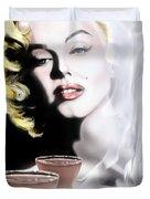 Monroe-Seeing Beyond Smoke-N-Mirrors Duvet Cover by Reggie Duffie