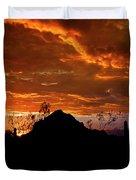 Monsoon Sunset  Duvet Cover by Saija  Lehtonen