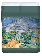 Mont Sainte Victoire Duvet Cover by Paul Cezanne