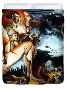 Monument To The Unborn War Hero Duvet Cover by Otto Rapp