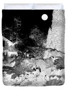 Moon Over Stanley Park Duvet Cover by Will Borden