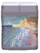 Morning At Etretat Duvet Cover by Claude Monet