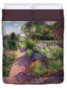 Morning Break In The Garden Duvet Cover by Timothy Easton