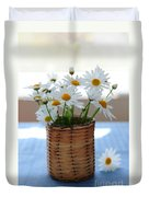 Morning Daisies Duvet Cover by Elena Elisseeva