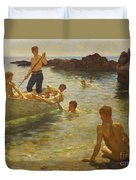 Morning Splendour Duvet Cover by Henry Scott Tuke
