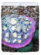 Mosaic Turtle Duvet Cover by Jamie Frier