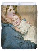 Mother And Child Duvet Cover by English School
