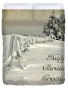 Mother Nature's Christmas Tree Card Duvet Cover by Lois Bryan