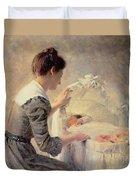 Motherhood Duvet Cover by Louis Emile Adan