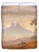 Mount Hood Duvet Cover by Albert Bierstadt