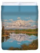 Mount Moran On Oxbow Bend Duvet Cover by Brian Harig