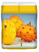 Mountain Climber On Mangosteens Duvet Cover by Paul Ge