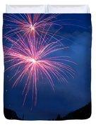 Mountain Fireworks landscape Duvet Cover by James BO  Insogna