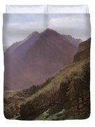 Mountain Study Duvet Cover by Alexandre Calame