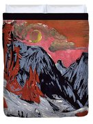 Mountains In Winter Duvet Cover by Ernst Ludwig Kirchner