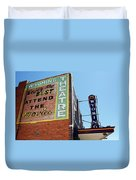 Movie Sign 1 Duvet Cover by Marilyn Hunt