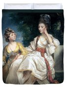 Mrs Thrale And Her Daughter Hester Duvet Cover by Sir Joshua Reynolds
