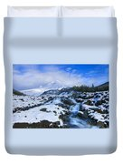 Mt. Hood Morning Duvet Cover by Mike  Dawson