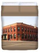 Munising Michigan City Hall Duvet Cover by Frank Romeo