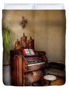 Music - Organ - Hear The Joy  Duvet Cover by Mike Savad
