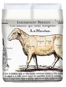 Mutton Duvet Cover by French School