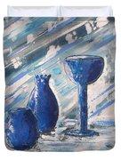 My Blue Vases Duvet Cover by J R Seymour