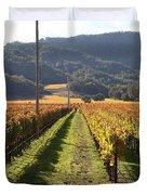 Napa Valley Vineyard . 7d9020 Duvet Cover by Wingsdomain Art and Photography