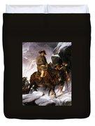 Napoleon Crossing The Alps Duvet Cover by Hippolyte Delaroche