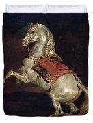 Napoleon's Stallion Tamerlan Duvet Cover by Theodore Gericault