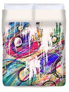 Narcotics Of The Mind Duvet Cover by Rachel Christine Nowicki