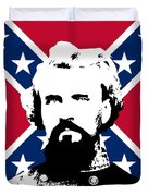 Nathan Bedford Forrest and The Rebel Flag Duvet Cover by War Is Hell Store