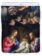 Nativity Duvet Cover by Philippe de Champaigne