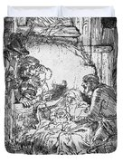 Nativity Duvet Cover by Rembrandt