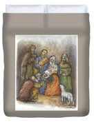 Nativity Duvet Cover by Walter Lynn Mosley