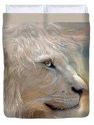 Nature's King Portrait Duvet Cover by Carol Cavalaris