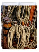 Nautical Knots 17 Oil Duvet Cover by Mark Myhaver