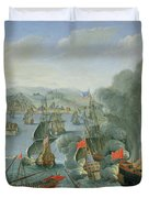 Naval Battle with the Spanish Fleet Duvet Cover by Pierre Puget