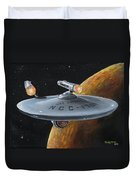 Ncc-1701 Duvet Cover by Kim Lockman