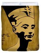 Nefertiti Egyptian Queen Duvet Cover by Georgeta  Blanaru